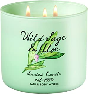 Bath & Body Works Candle 3 Wick 14.5 Ounce 2017 Edition Wild Sage & Aloe