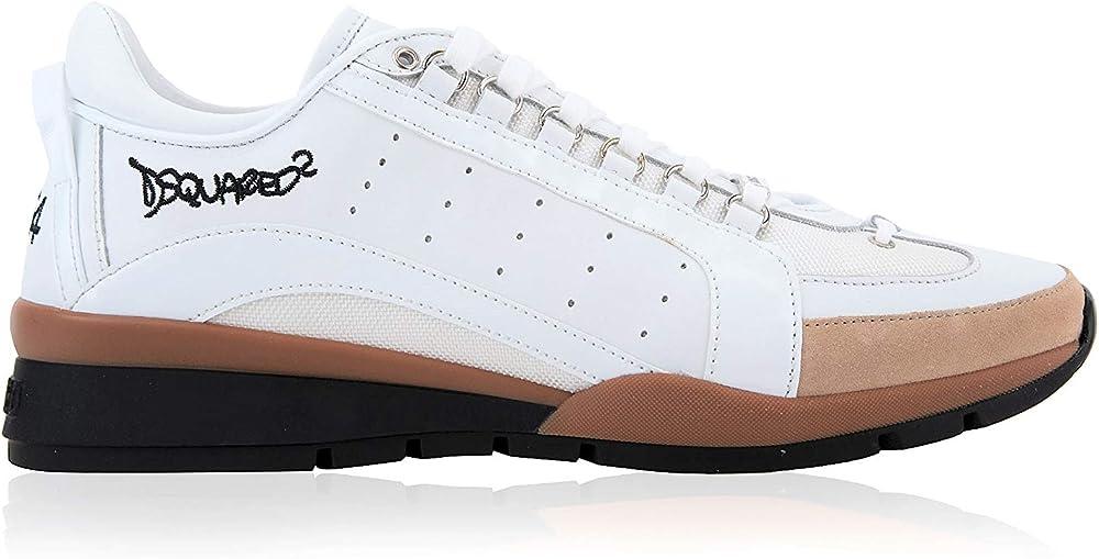 Dsquared2 scarpe sneakers da uomo in pelle DSQUARED2 551