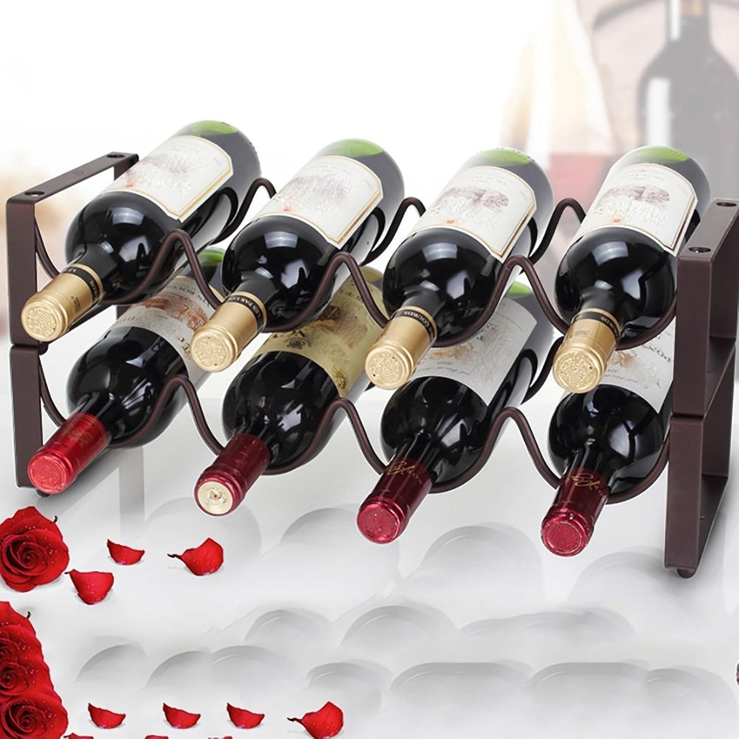 慎重抑圧口頭ZXQZ ワインラック/赤ワインラック/アイアンアートワインキャビネット装飾/DIYフリーコンビネーション/サイズオプション 赤ワイン棚 (色 : ブロンズ, サイズ さいず : (45 * 17 * 23CM))