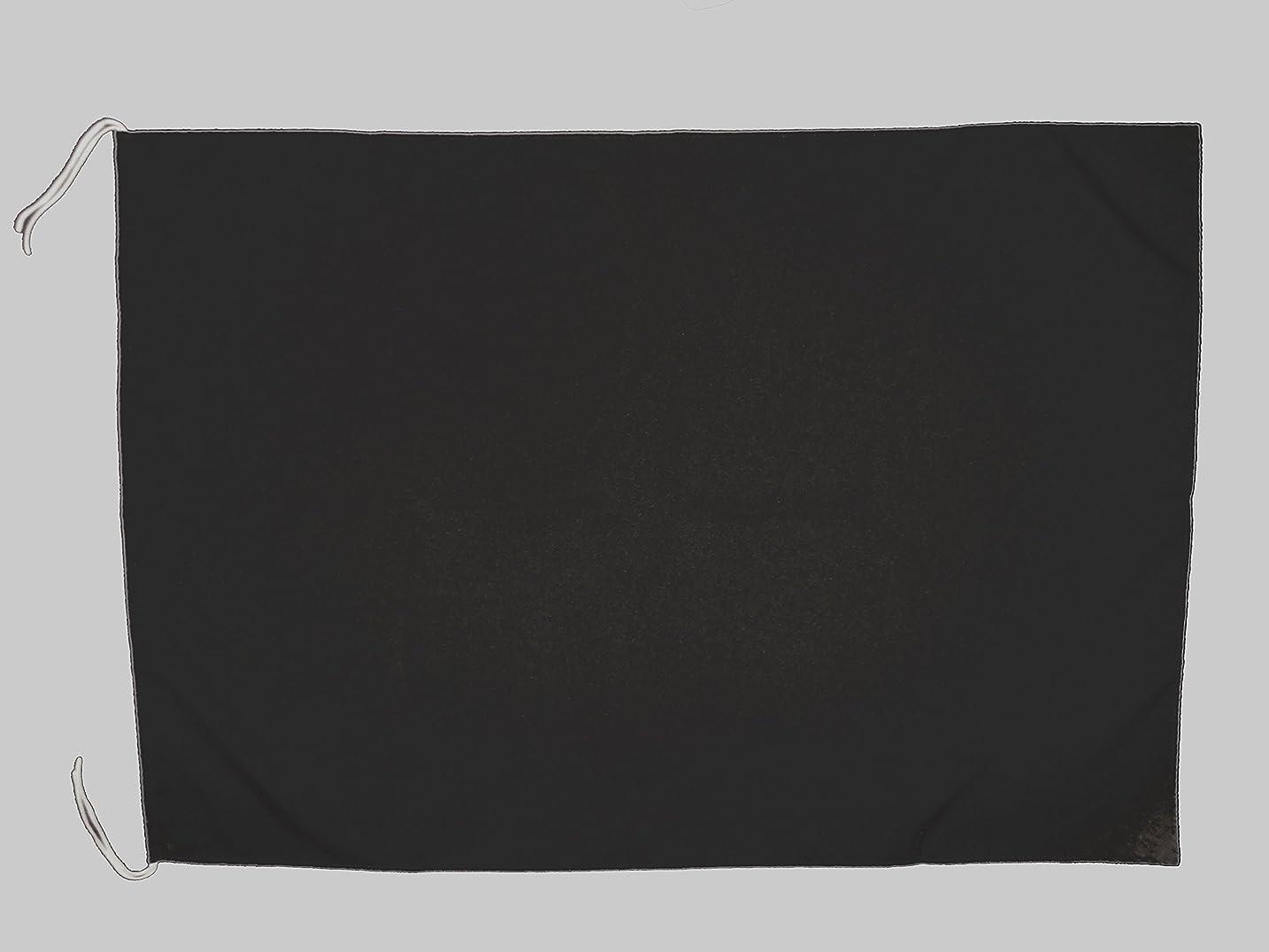 落ち着いて彫刻ベルTOMAC 紐付色旗 綿 IHC-05-15 黒 50×70㎝