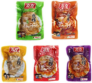 Chongqin Specialty: Youyou Japanese Pickled Pepper Dried Tofu Four Flavors (Five Spices, Pickled Pepper, Wild Pepper, Soysauce) Bulk Package (250g/8.3oz/0.55lb)