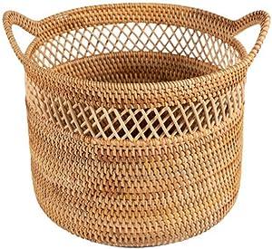 Zenglingliang Storage Chests Fashion Simple Wind Storage Box Hand-Woven Household Hamper Basket Toy Sundries Storage Basket - Creative Gifts Finishing Box