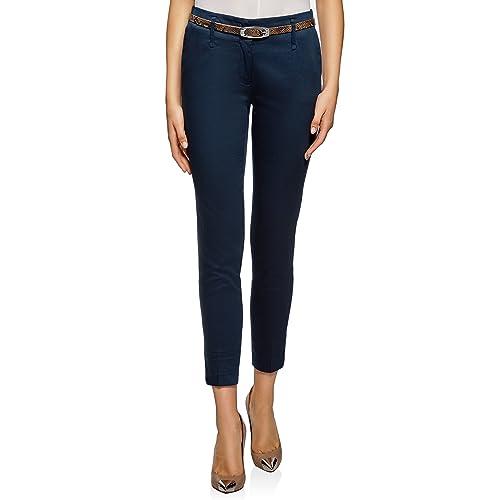 piuttosto economico guarda bene le scarpe in vendita comprare a buon mercato Pantaloni Chino Donna: Amazon.it