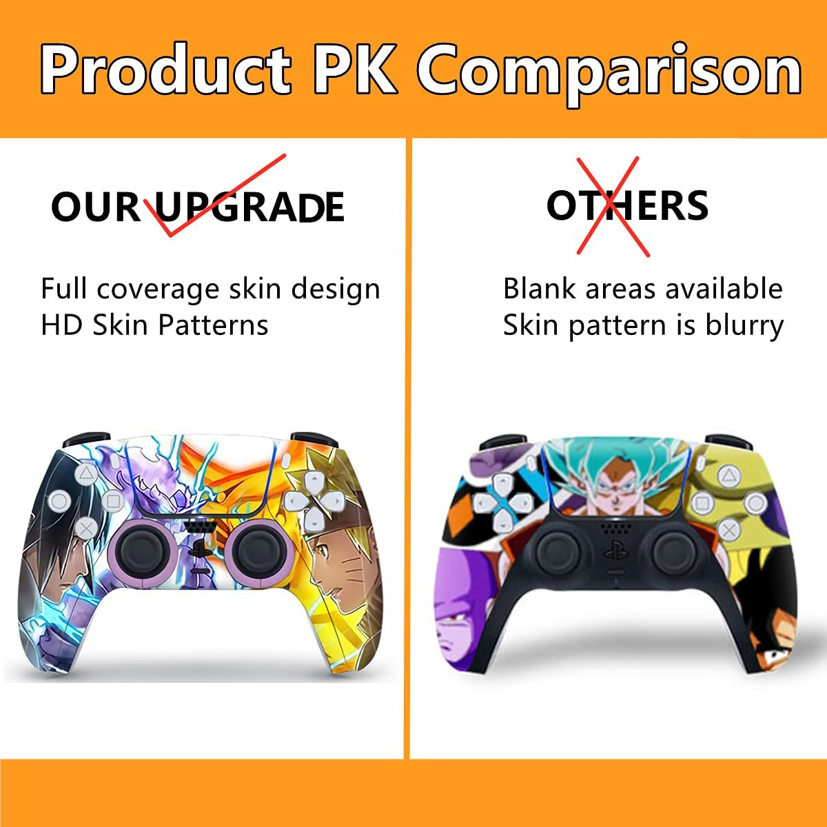 Mmoptop PS5 Skin Digital Edition Anime Console and Controller Vinyl Cover Skins Wraps for Playstation 5 Digital Edition
