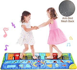 Jenilily Musical Piano Mat Dance Mat 51in×19in Instrumental Keyboard Dance Floor Music Mat Toys Baby Boy Girl Early Education Gift
