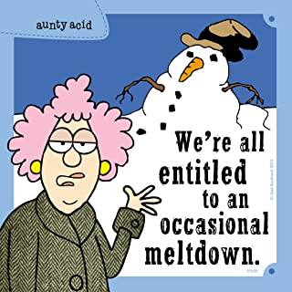 Tree-Free Greetings Premium Refrigerator Magnet, 3.5 x 3.5 Inches, Aunty Acid Occasional Meltdown (MG97608)