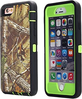 iPhone 6 Case, iPhone 6S Case [Heavy Duty] AICase Tough 3 in 1 Rugged Shockproof Cover for Apple iPhone 6/6S (Tree with Belt Clip)
