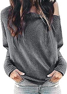 HAMAMISE Tシャツ 婦人向けソリッドスキューカラーロングスリーブブラウスシャツプルオーバートップス おおきいサイズ 無地 オシャレ ブラウストップス 通気 速乾 運動