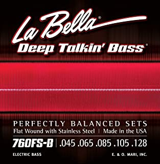 La Bella 760FS-B Flat Wound Bass 5 Strings Set 45/128