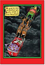 1018 'Miss Fanny Bright' - Funny Merry Christmas Greeting Card with 5