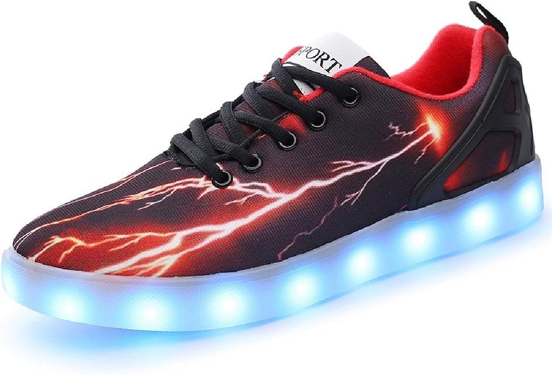 Matari Mens Women LED Light up Lightning shoes Sportswear Sneaker Luminous Casual shoes