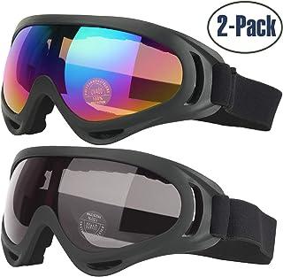 38a4020173 Gafas de Esquí, 2-Pack Gafas de Esquiar para Mujer Hombre, Niños,