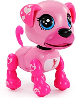 TEMI Smart Interactive Robot Puppy – Responds to Touch, Walking, Singing, Telling Stories, Repeat What You Said, Making Co...