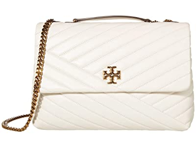 Tory Burch Kira Chevron Convertible Shoulder Bag (New Ivory) Handbags