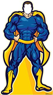 Advanced Graphics Super Hero in Blue Stand-in Life Size Cardboard Cutout Standup