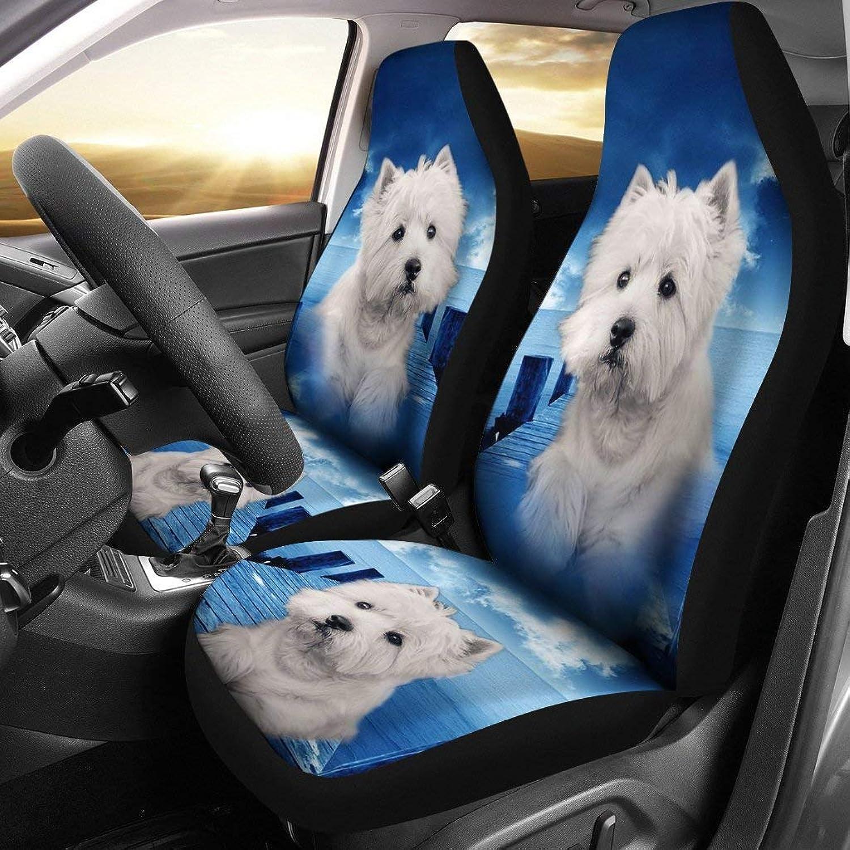 Cute Westie Dog Print Car Seat Covers