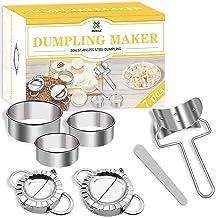 Dumpling Mold Set and Cutter,DOXILA 7 Piece Dumpling Maker Make Chinese Dumpling Pie Ravioli Empanadas Press Mold Kitchen ...