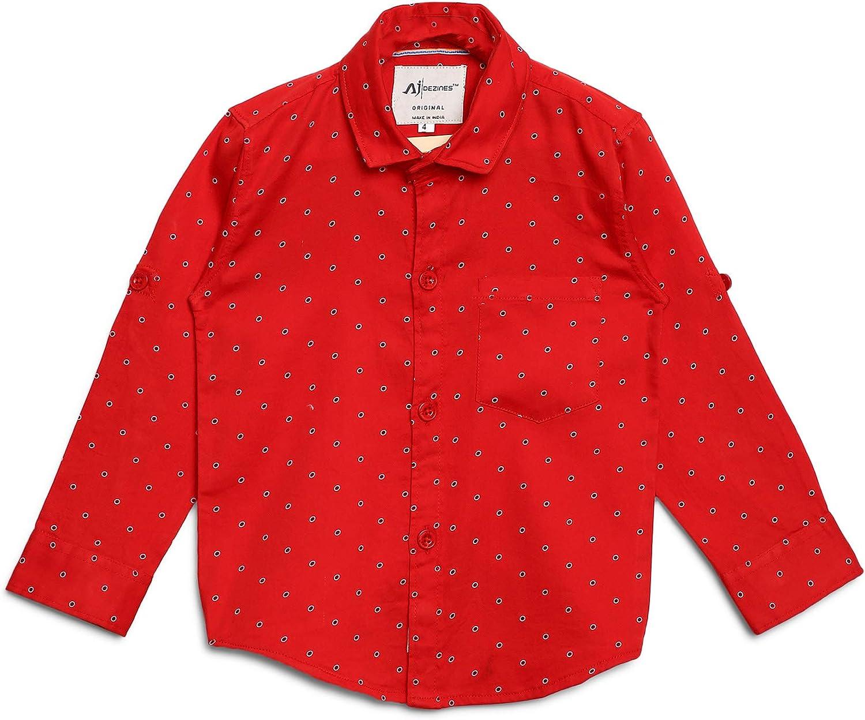 AJ DEZINES Kids Indian Wear Button Down Printed Shirt for Boys
