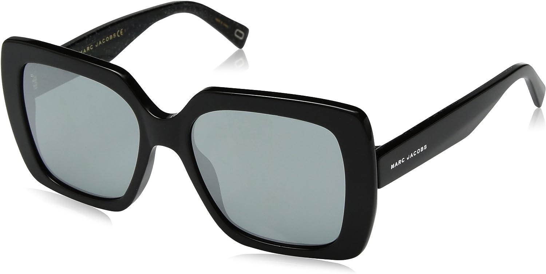 Marc Jacobs Women's Marc230s Square Sunglasses, BK GLITTR, 53 mm