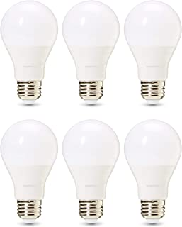 AmazonBasics Commercial Grade LED Light Bulb | 40-Watt Equivalent, A19, Soft White, Dimmable, 6-Pack
