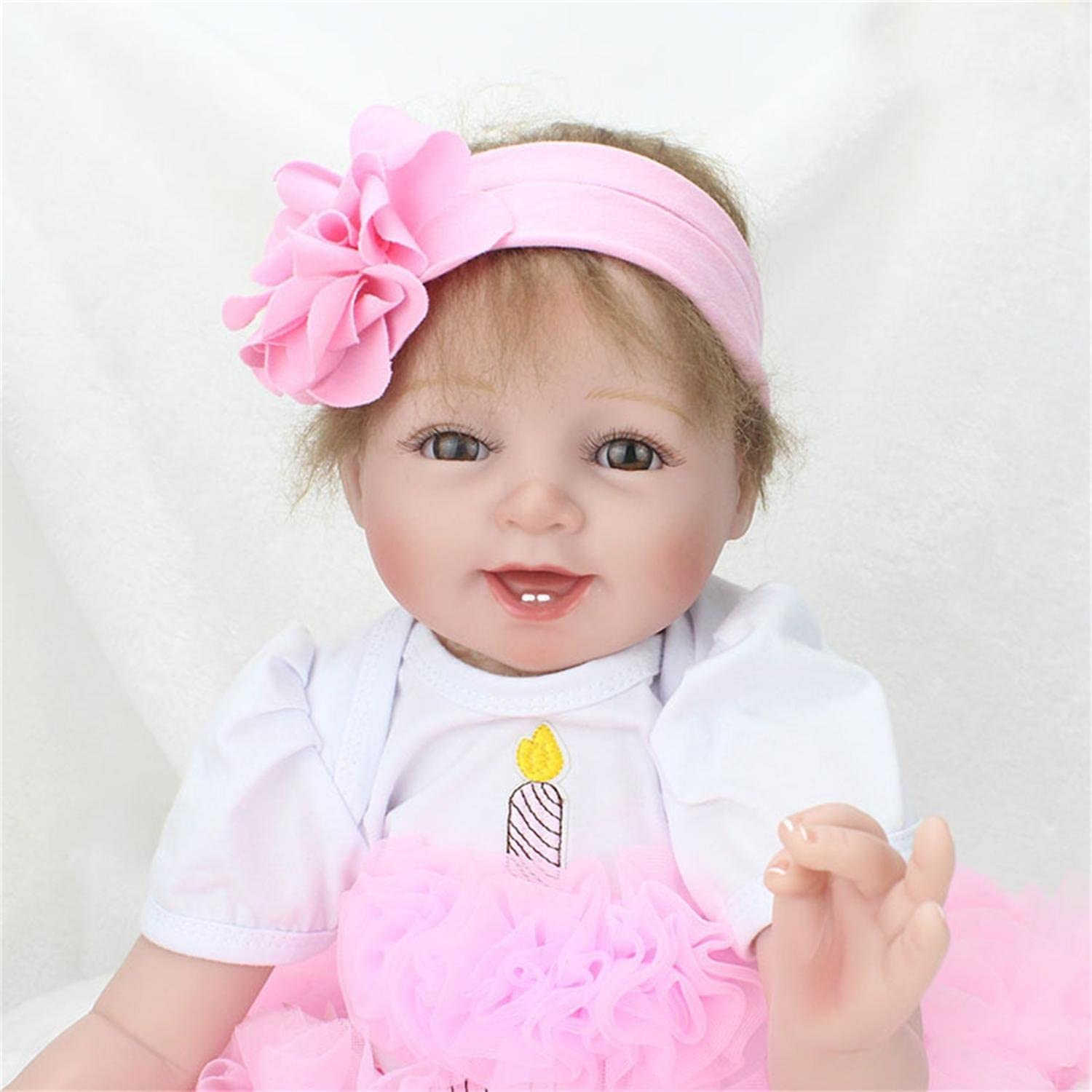 22 Inch Lifelike Reborn Baby Dolls Outlet SALE Soft Open Vinyl Girls Si Eyes Be super welcome