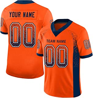 Personalized Men's Mesh Football Jersey Active Shirts Custom Team Uniforms Printed&Stitched Text