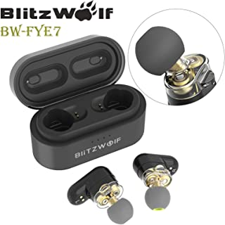 Blitzwolf TWS Wireless Bluetooth 5.0 Stereo Super Bass Earphone Earbud + Charger BW-FYE7
