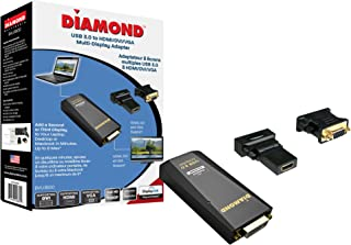 Diamond Multimedia USB 3.0 to VGA/DVI/HDMI Video Graphics Adapter up to 2048x1152 / 1920x1080 - Windows 10, 8.1, 8, 7, XP, MAC OS and Android 5.0 and Higher