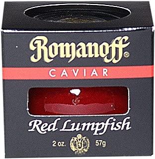 Romanoff Caviar Red Lumpfish, 2-Ounce Jars (Pack of 4)