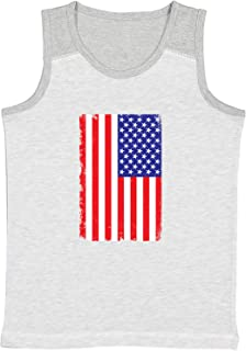 Instant Message American Flag Truck Toddler Muscle Tank