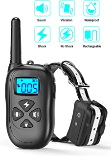 CASACOP Dog Training Collar - Rechargeable Dog Shock Collar with Remote IPX7 Waterproof, Up to 1500Ft Rang Shock Collar for Small/Medium/Large Dog,3 Training Modes Shock Vibration and Beep