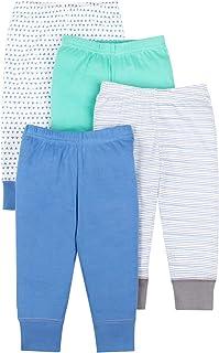 LAMAZE Boys Baby Organic 4 Pack Pants