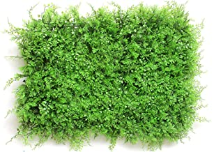 XEWNEG Artificial Hedge Plant Green Privacy Screen Plastic Panel Background Green Pad Fake Fence Lattice Wall Decoration (...