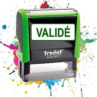 VALIDÉ - Tampon Encreur Professionnel TRODAT 4912 - Texte prédéterminé - Empreinte 47 x 18 mm - 19 modèles disponibles
