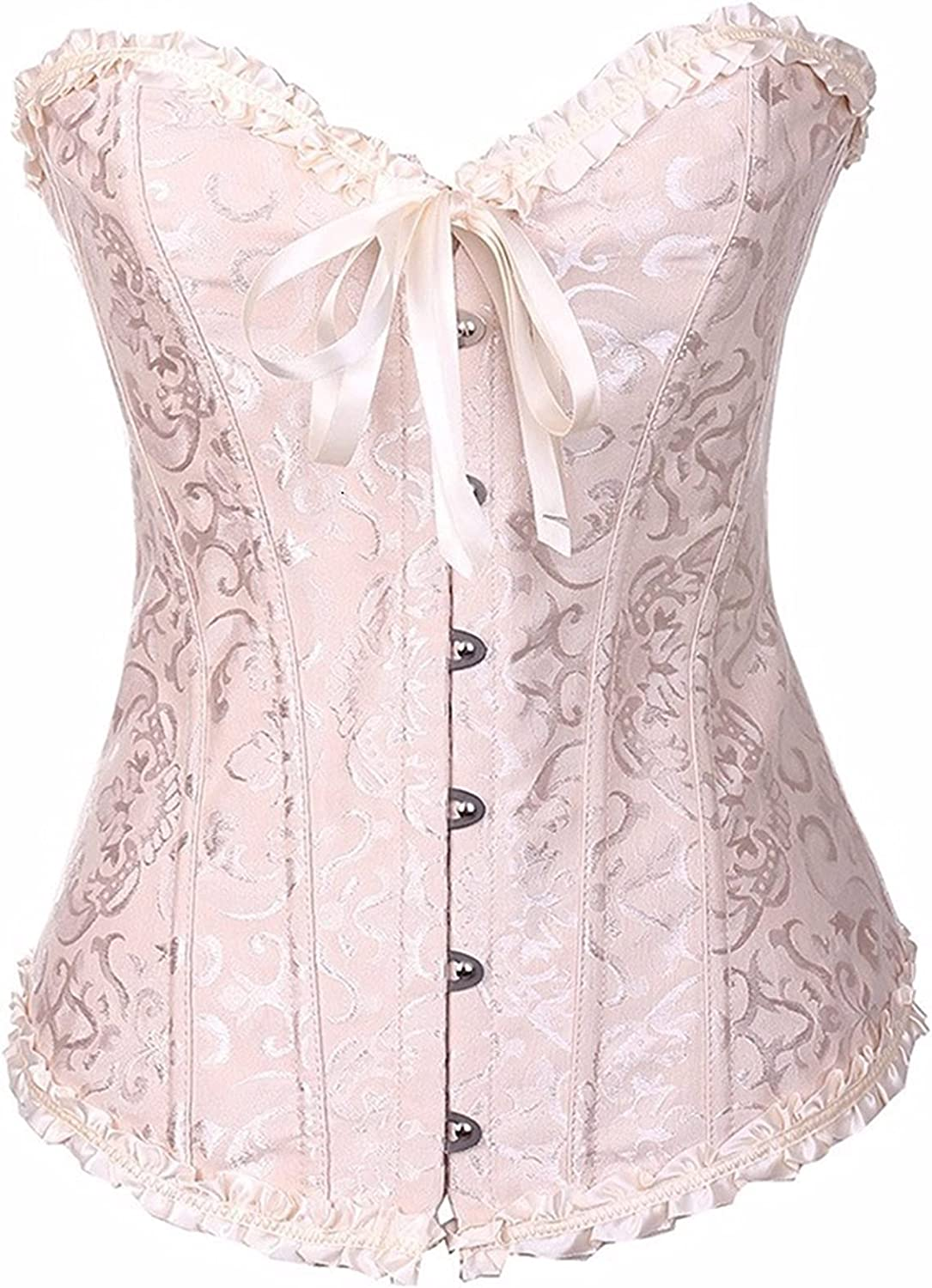 HGoods Sexy Vintage Women White Bridal Wedding Corsets and Corse