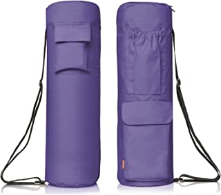 newk yoga Full Zip Yoga Bag with Expandable Pocket and Water Bottle Holder– Fits Yoga Mats