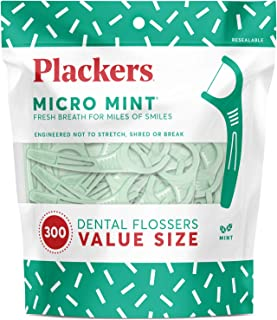 Plackers Micro mint dental floss picks, 300 count, 300 Count