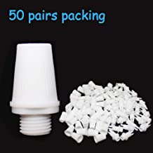 White Cable Glands Strain Reliefs 50 Pairs Wire Cord Grips Pendant Light Socket for Lamp Power Connector