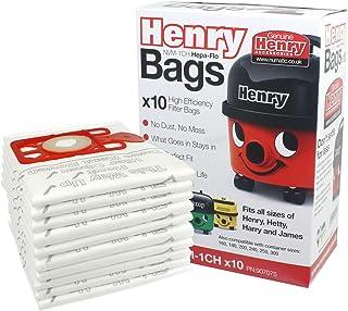 Numatic Henry Hetty etc Hepa Flo Vacuum Cleaner Dust Bags (Pack of 10)
