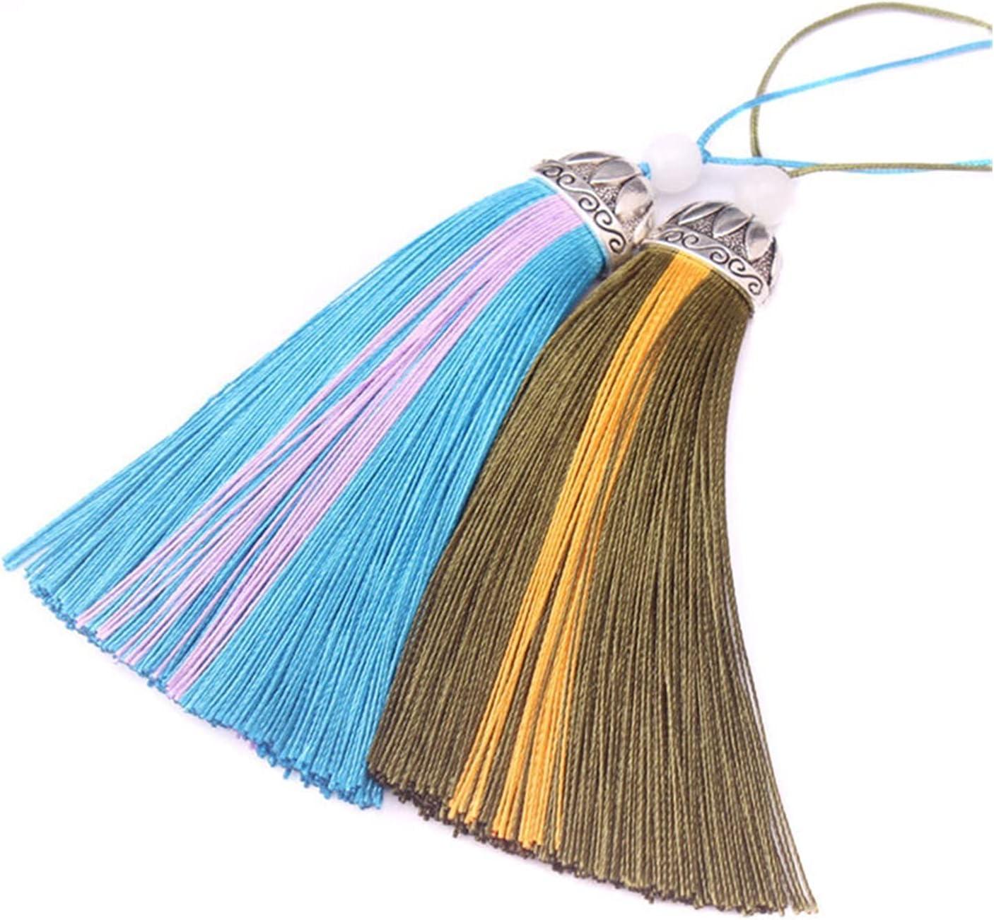 Large special price Ranking TOP8 QWXZ Tassel 10cm Tassels Decorative Silk DIY garniture Ta Fringe