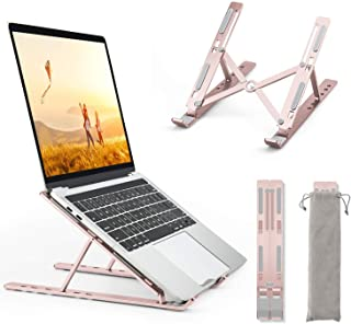 GOOJODOQ 2021 Support Ordinateur Portable Or Rose, Laptop Stand, Support PC Portable 6 Angles pour Ordinateur Portable, Ta...