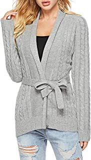 Yczx Cardigans Women's Long Sleeve Warm Cardigans Sweaters Autumn Winter Casual Elegant Retro Knitwear Solid Color Loose C...