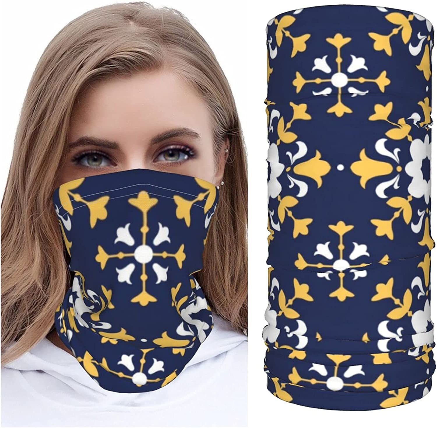 Portugal Moroccan Style2 Neck Gaiter Multipurpose Headwear Ice Silk Mask Scarf Summer Cool Breathable Outdoor Sport 4 Pcs