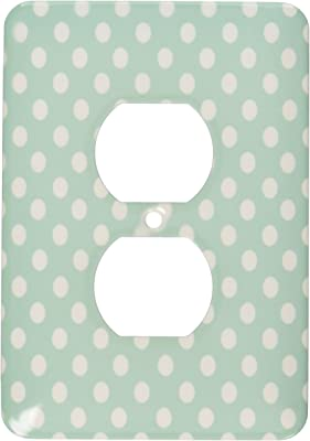 3dRose lsp/_111676/_1Large And Small Purple Scattered Polka Dots Single Toggle Switch Multicolor