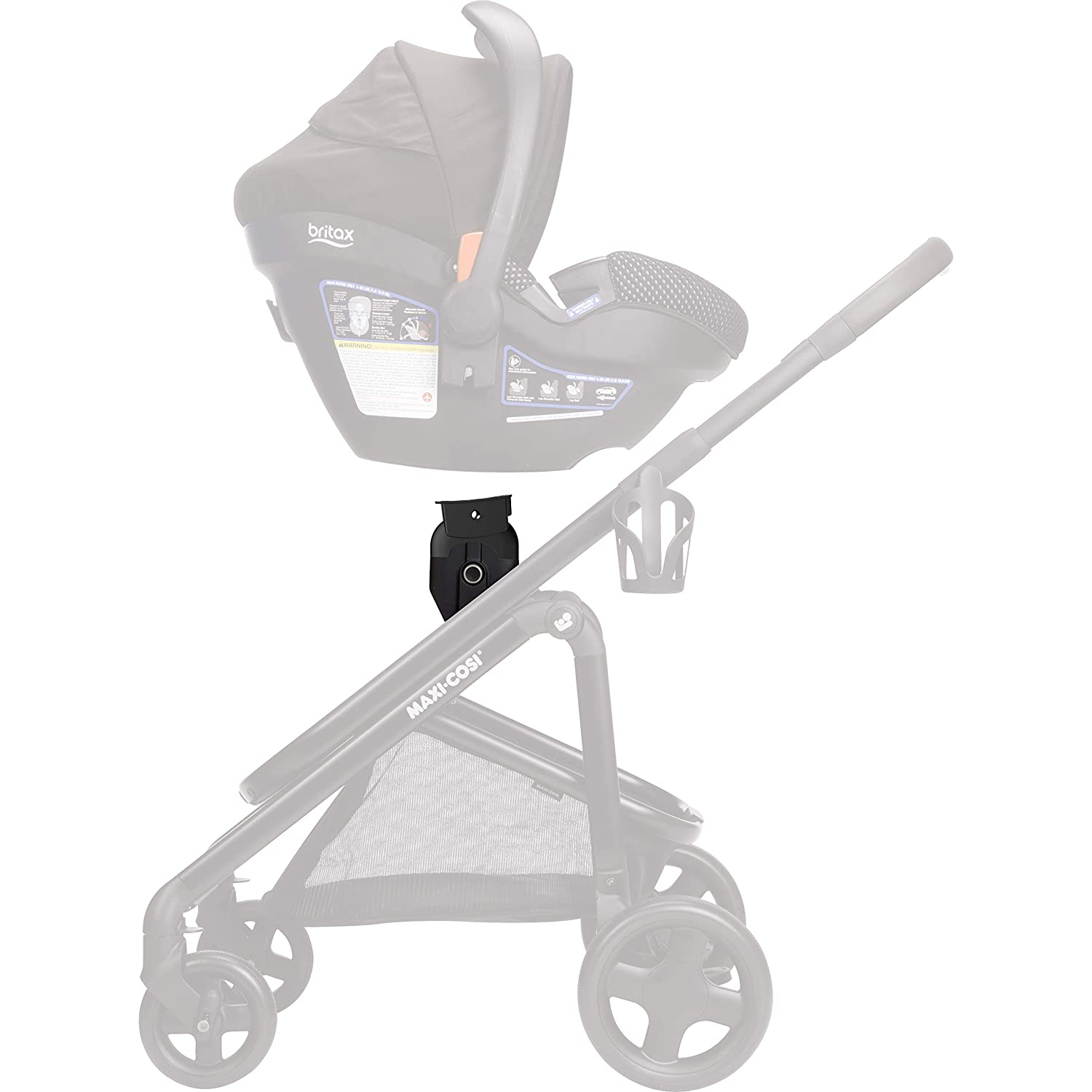 Maxi-Cosi Adapter for Select Maxi-Cosi Strollers and Britax Car Seats, Black