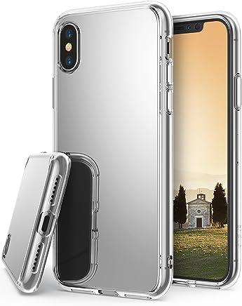 Ringke Fusion Mirror Compatible con Funda iPhone X Protector de Espejo Lujoso y Radiante Carcasa Protectora Fina y Elegante para iPhoneX, iPhone 10 - Plateado Silver