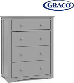 Graco Hadley 4 Drawer Dresser - Pebble Gray, Easy New Assembly Process, Universal Design, Durable Steel Hardware and Euro-Glide Drawers with Safety Stops, Coordinates with Any Nursery