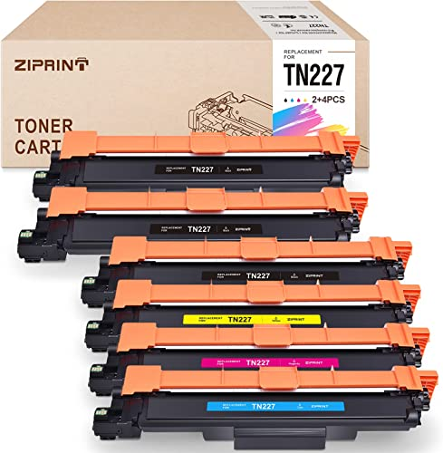 new arrival ZIPRINT Compatible Toner Cartridge Replacement for Brother TN227 TN227bk TN-227 high quality TN223bk TN223 for MFC-L3770CDW MFC-L3750CDW new arrival HL-L3230CDW HL-L3290CDW HL-L3210CW (Black, Cyan, Magenta, Yellow, 6 Pack) online sale