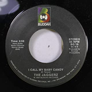 THE JAGGERZ 45 RPM I CALL MY BABY CANDY / THE RAPPER