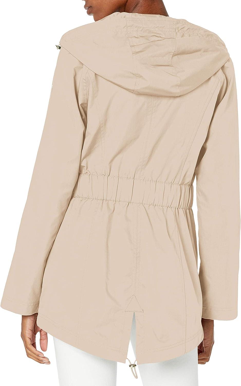 GUESS Women's Adjustable Long Sleeve Anorak Jacket at  Women's Coats Shop